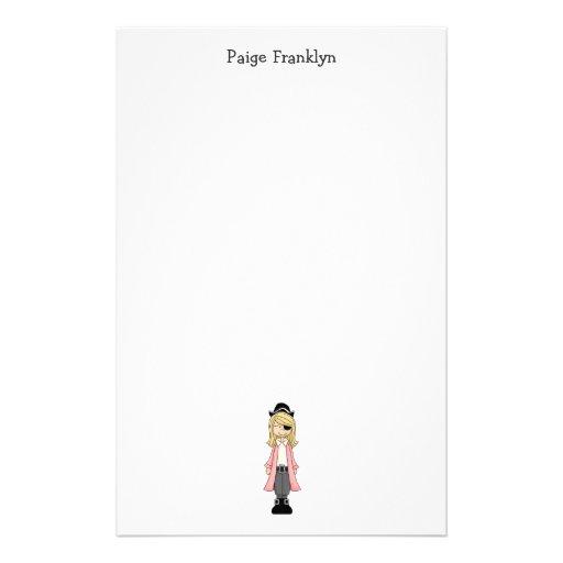 Piratas rosados · Chica #2 del pirata Papelería Personalizada
