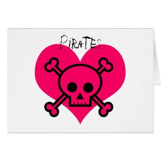 Piratas rosados del corazón felicitacion