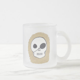 Piratas verdaderos taza de café esmerilada