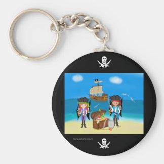 Piratas y llavero del tesoro