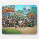 """Pirate101 Skull Island Roster Mouse Pad<br><div class=""""desc"""">Pirate101 is a MMO Pirate adventure free online game with flying ships, board game combat and far off worlds that&#39;s safe for kids and fun for players of all ages! The 3D Pirate game allows players to create their own Pirate to sail through the Skyway in hopes of treasure and...</div>"""