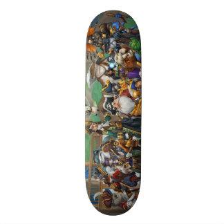 Pirate101 Skull Island Roster Skate Board Deck