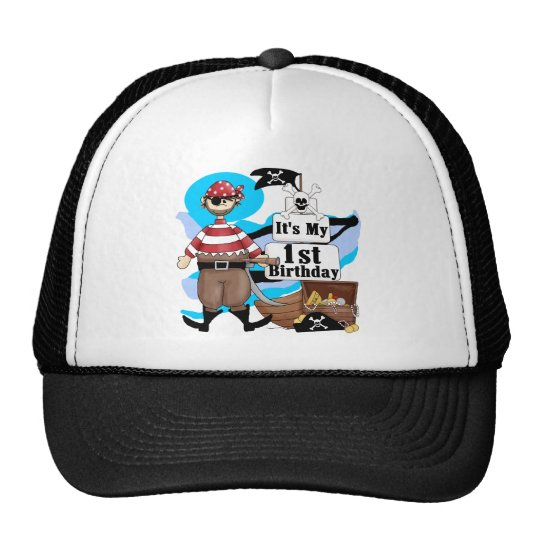 Pirate 1st Birthday T-shirts and Gifts Trucker Hat