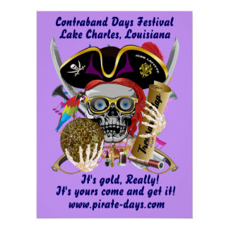 """Pirate 20"""" X 26"""" Customize 35 Back Colors Poster"""