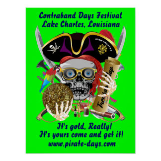 Pirate 20 X 26 Customize 35 Back Colors Perfect Poster