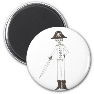 Pirate 2 Inch Round Magnet
