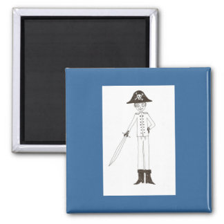 Pirate 2 Inch Square Magnet