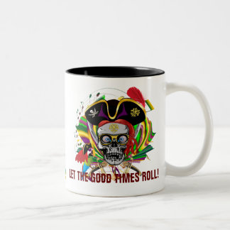Pirate-2, Who Da King V-1 Theme Party Two-Tone Coffee Mug