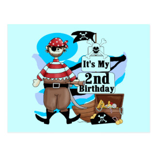 Pirate 2nd Birthday T-shirts and Gifts Postcard