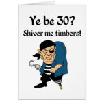 Pirate 30TH Birthday Card