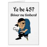 Pirate 45th Birthday Cards