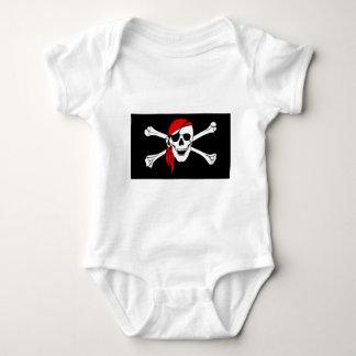 pirate-47705  pirate flag bones skull danger baby bodysuit