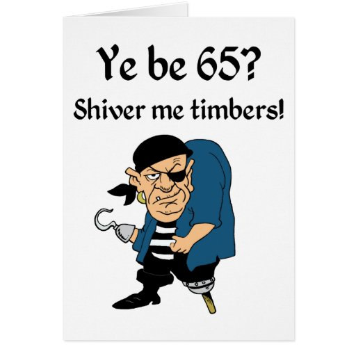 Pirate 65th Birthday Card