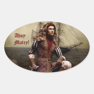 Pirate - Ahoy Matey - Customizable Stickers
