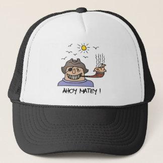 Pirate Ahoy Matey Trucker Hat