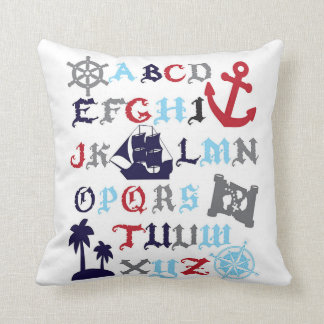 Pirate Alphabet Pillow Boys Room Decor