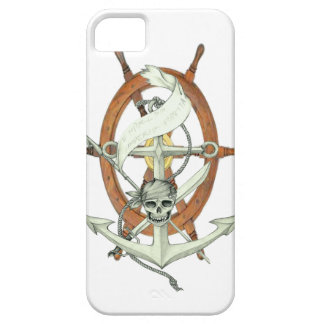 Pirate Anchor and Steering Wheel iPhone SE/5/5s Case