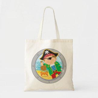 Pirate and Crab Budget Tote Bag