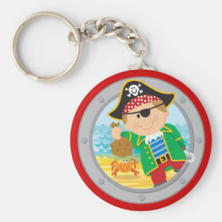 Pirate and Crab Keychain