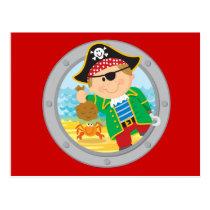 Pirate and Crab Postcard