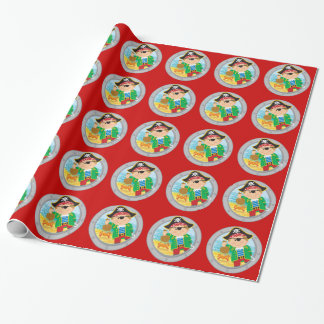 Pirate and Crab Wrapping Paper