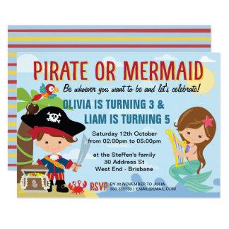Pirate and Mermaid Card