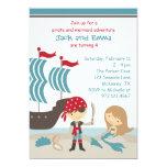 Pirate and Mermaid Invitation Custom Invitations