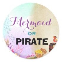 Pirate and Mermaids Birthday Sticker Envelope Seal