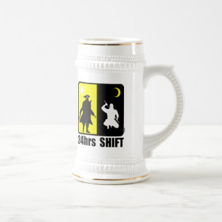 Pirate and ninja, 24hrs shift beer stein