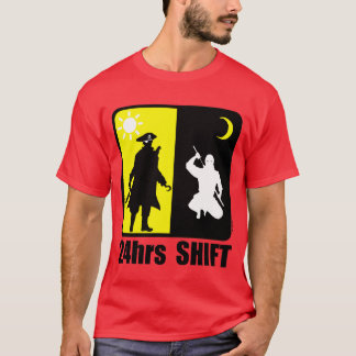 Pirate and ninja, 24hrs shift T-Shirt
