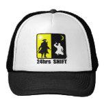 Pirate and ninja, 24hrs shift trucker hats