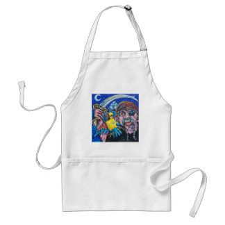 pirate and parrot adult apron