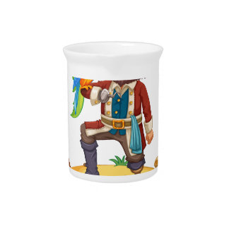 Pirate and parrot drink pitchers