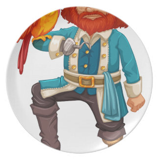 Pirate and parrot party plates