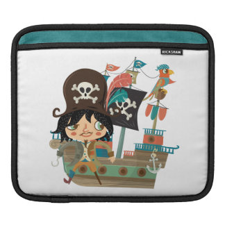 Pirate and Pirate Ship Sleeve For iPads