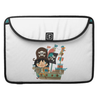 Pirate and Pirate Ship MacBook Pro Sleeve
