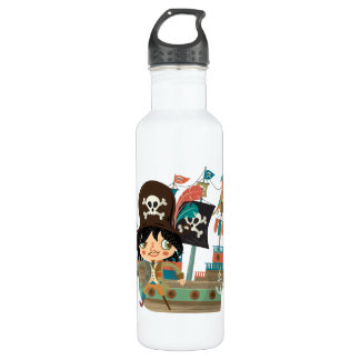 Pirate and Pirate Ship Water Bottle