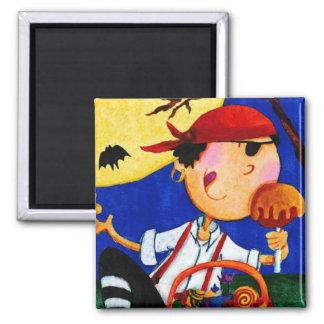 pirate and pumpkin refrigerator magnet