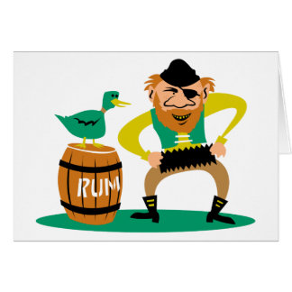 Pirate and Rum Card