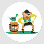 Pirate and Rum Stickers