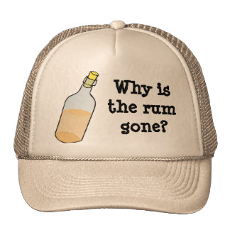 Pirate and Rum Trucker Hat