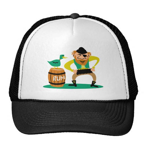 Pirate and Rum Trucker Hats