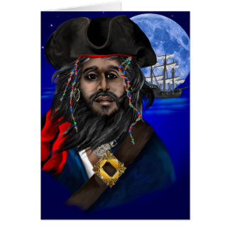 Pirate and Ship Card