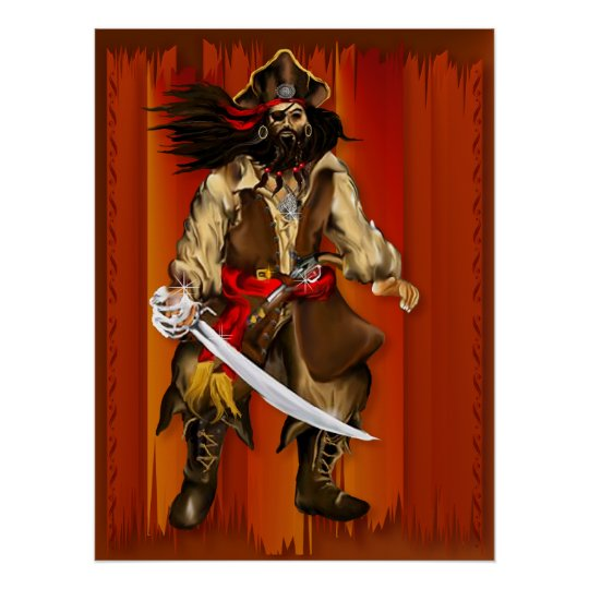 Pirate and Sword...Poster Poster