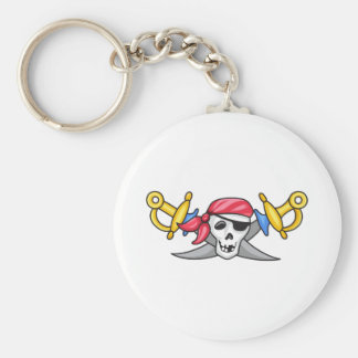 PIRATE AND SWORDS KEY CHAINS