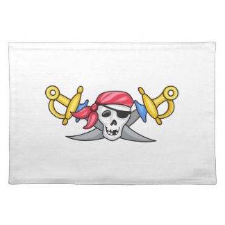 PIRATE AND SWORDS CLOTH PLACEMAT