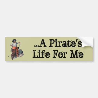 Pirate And Treasure Bumper Sticker