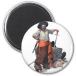 Pirate And Treasure Fridge Magnet