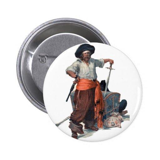 Pirate And Treasure Pin