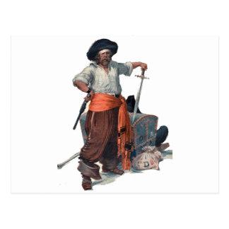 Pirate And Treasure Postcard